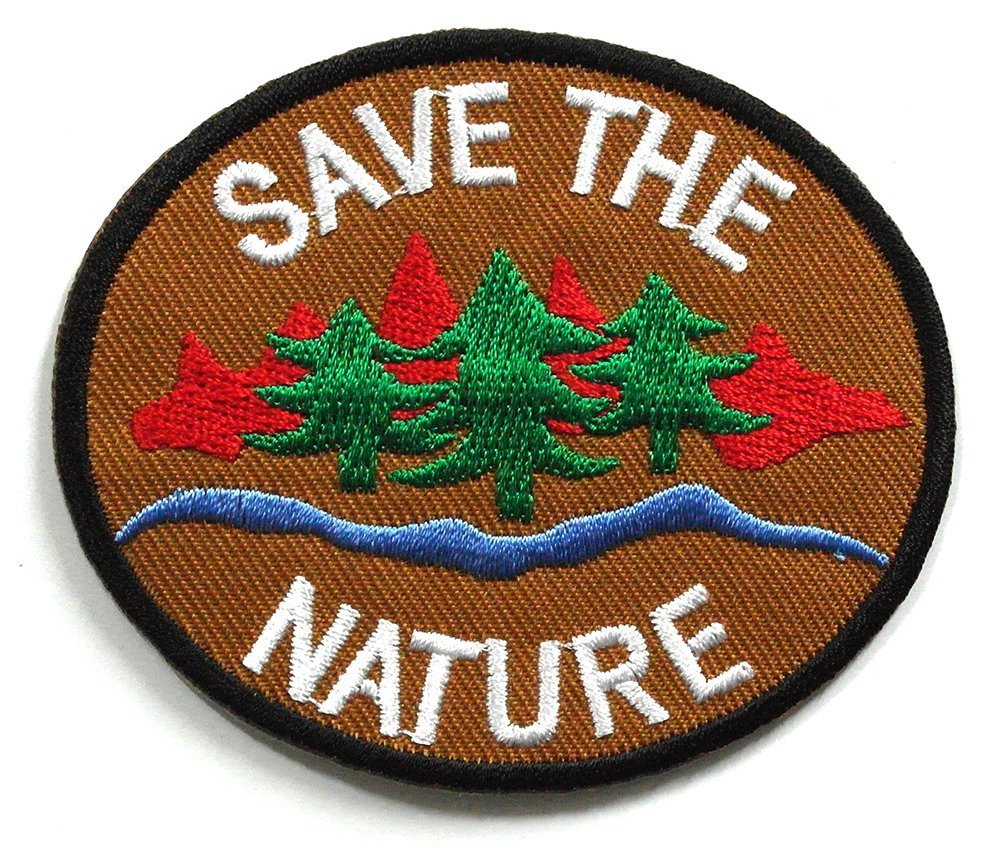 SAVE THE NATURE IRON-ON PATCH