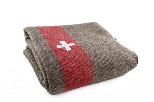 HEAVY DUTY SWISS ARMY MILITARY WOOL BLANKET