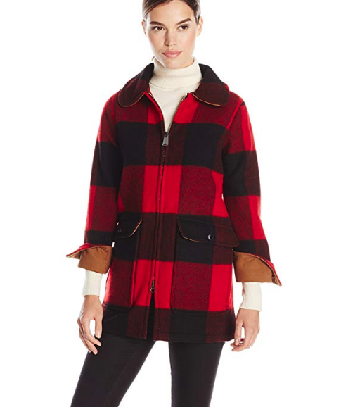 WOOLRICH BUFFALO PLAID WOOD COAT