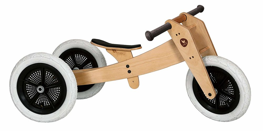 WISHBONE CONVERTIBLE WOODEN BALANCE BIKE