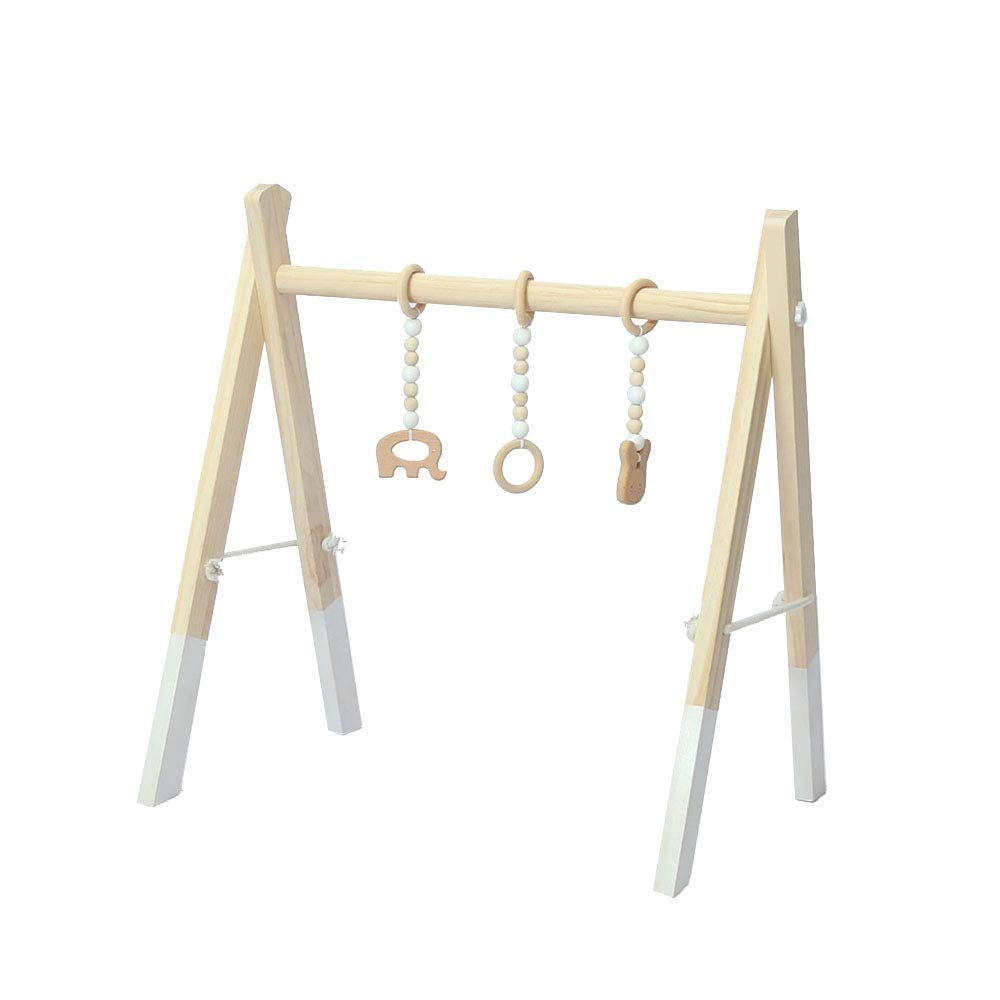 FOLDING WOOD BABY PLAY GYM