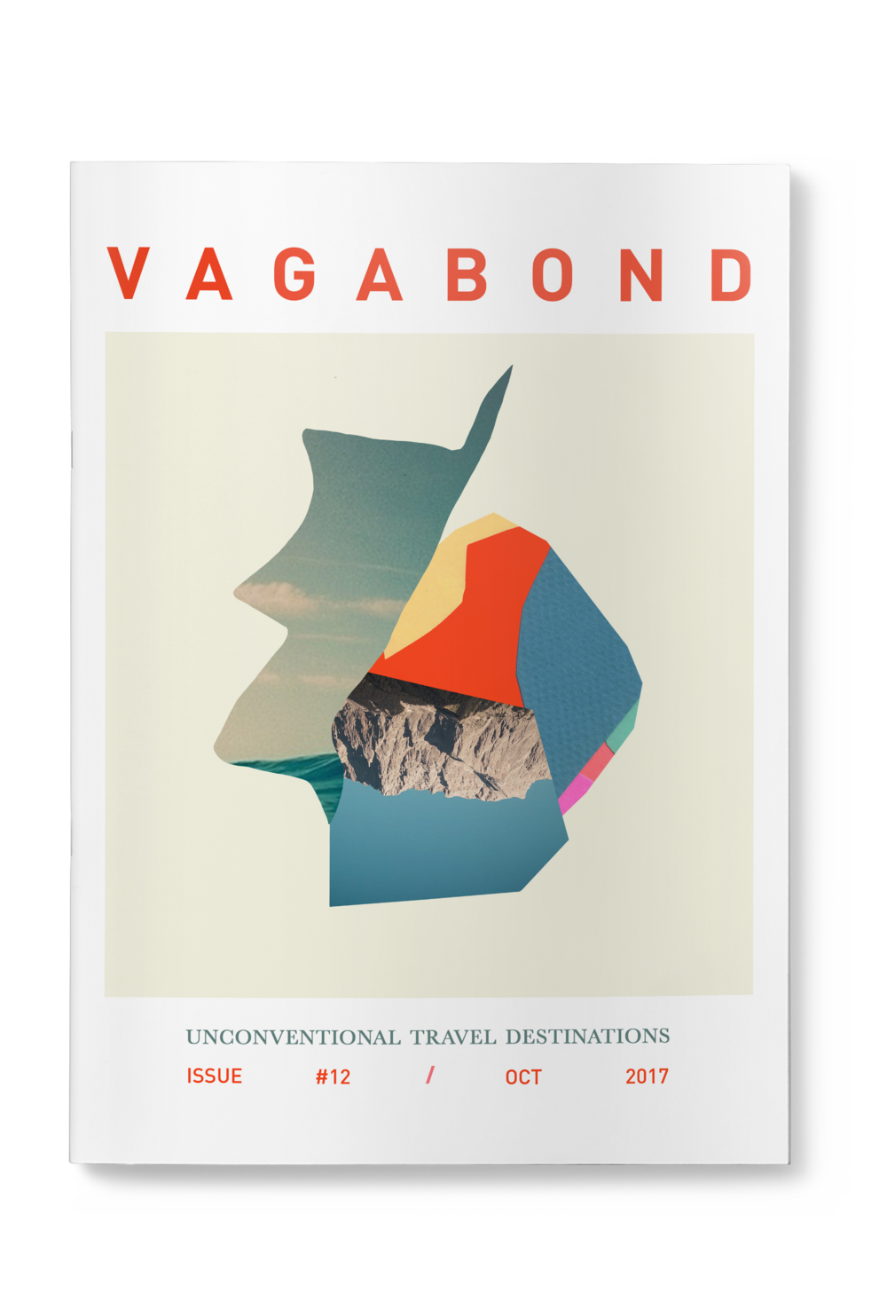 Vagabond - A practice in cover design, typography and layout for an unconventional travel magazine.