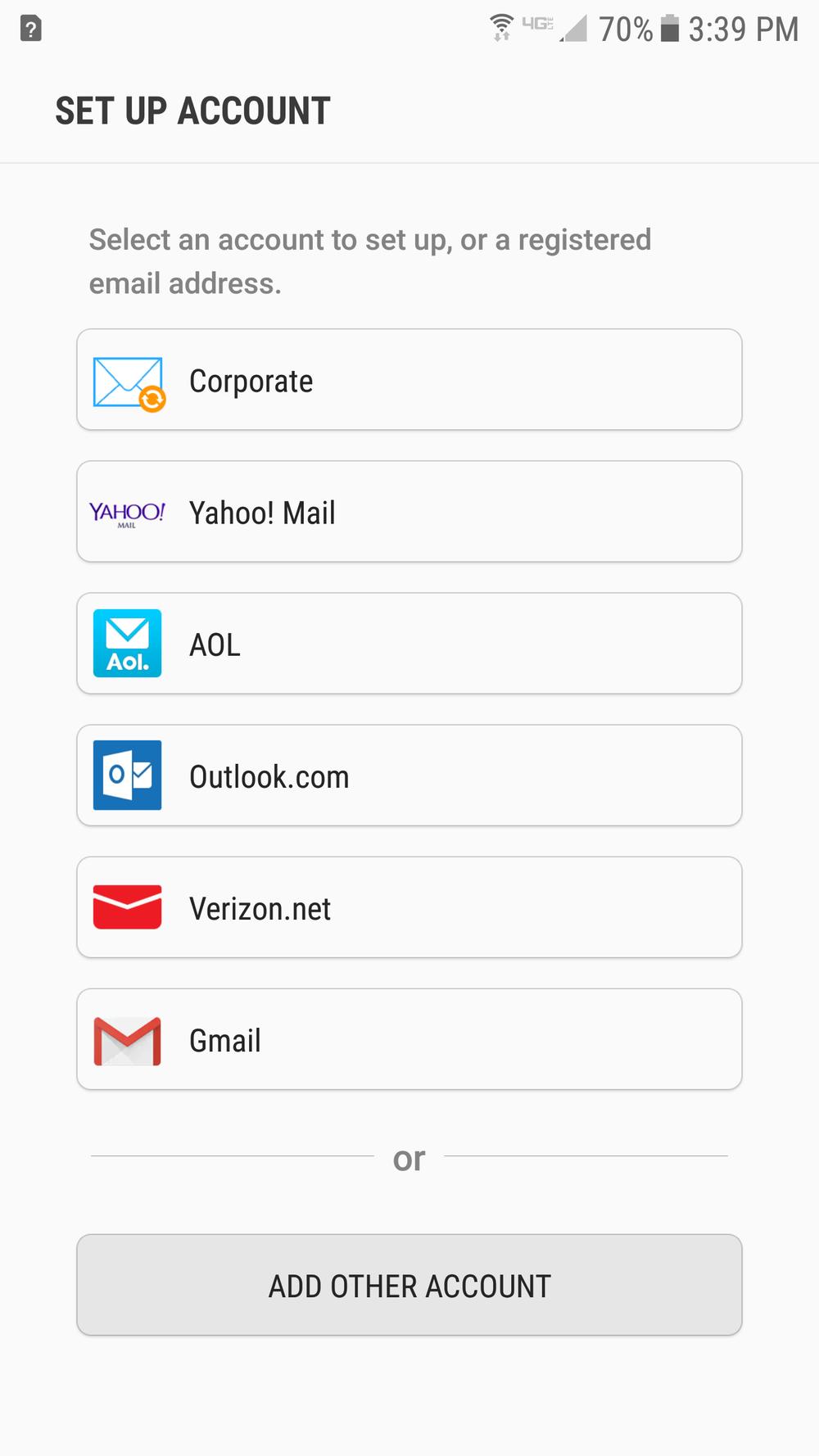 Lingo Networks email setup guide for Samsung Mail.