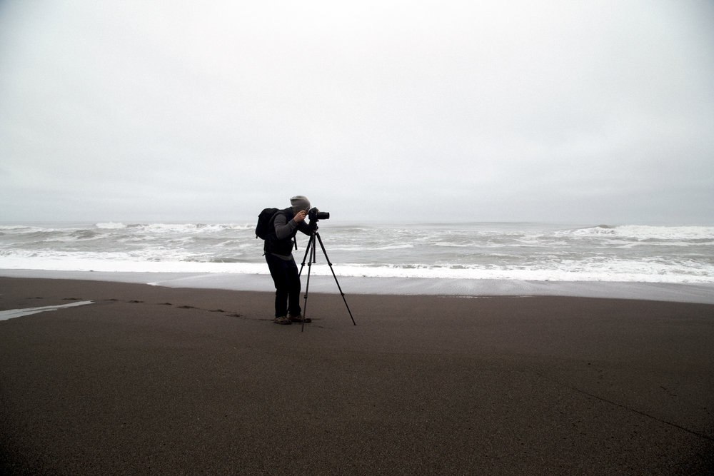 Zach Weston photographing in Humboldt County, CA
