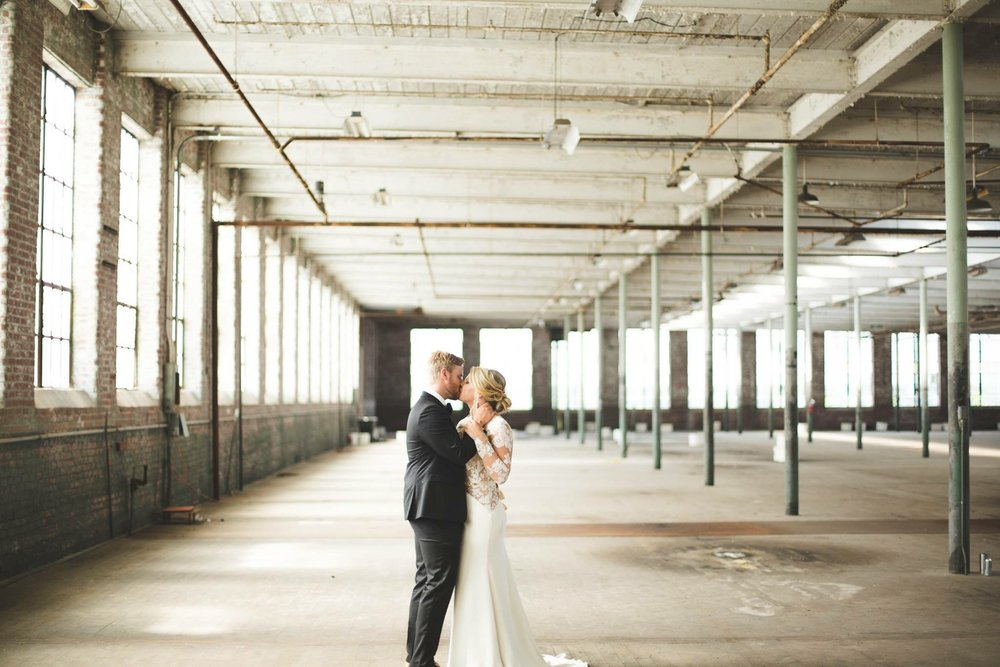 INDUSTRIAL VENUES  -   I hate to break it to ya but the barn days are over. It is no question the industrial trend has hit a high and the mill style, exposed brick, lofted ceilings are in. I am a bit partial to this from our wedding almost TWO years ago being at a local mill. But do yourself a favor and find a place with AC! From doing my fair share of weddings, and outdoor weddings being at an all time high. PLEASE have a plan B to your dream outdoor wedding. With a industrial style venue more than likely your space with be plentiful so you don't have to worry yourself sick if you should spend that extra few thousands and get a tent.