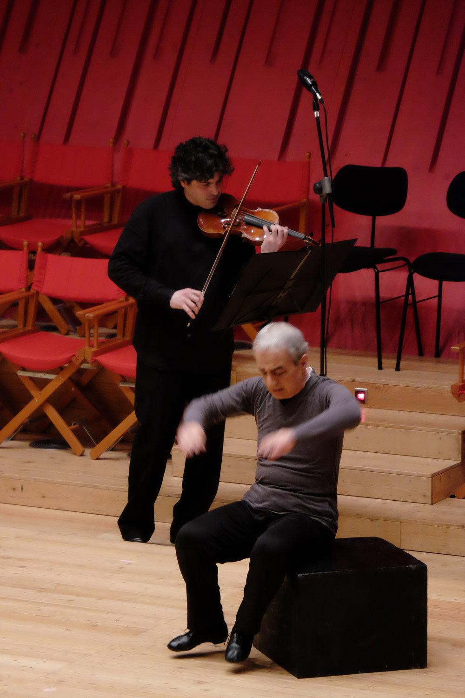 Béla Bartók Sonata for Solo Violin / Apocalypse Man    Auditorium del Parco (World Premiere)