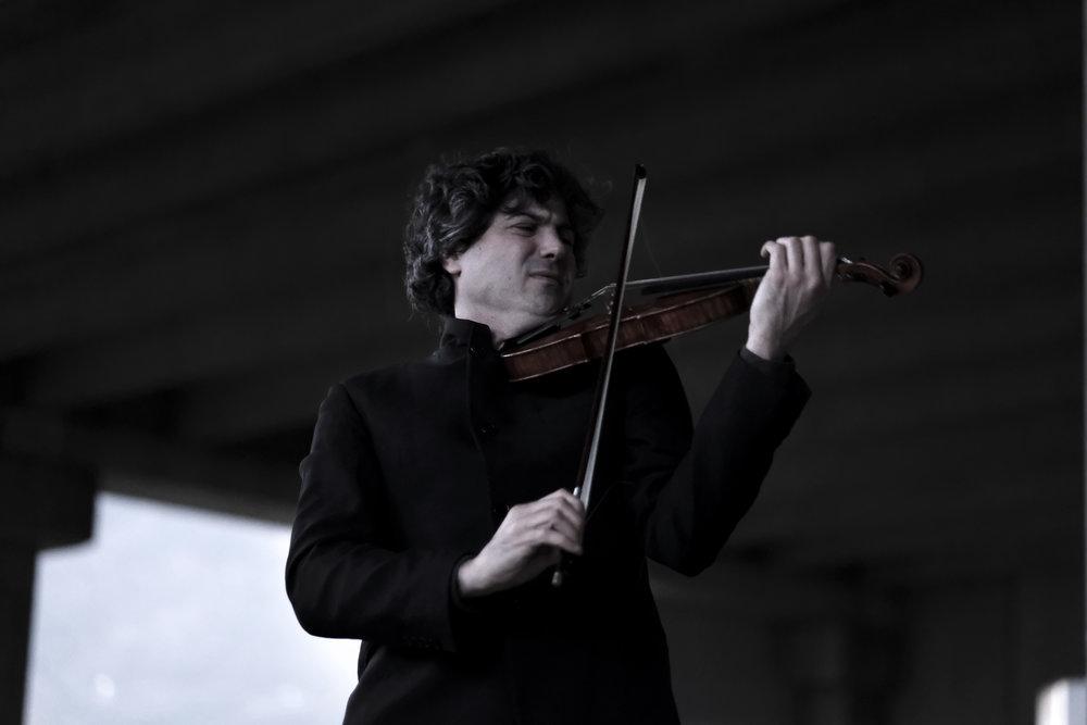 Béla Bartók Sonata for Solo Violin / Apocalypse Man    Photo: Camilla Mastaglio