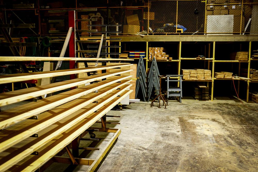 Wood Bleacher Boards