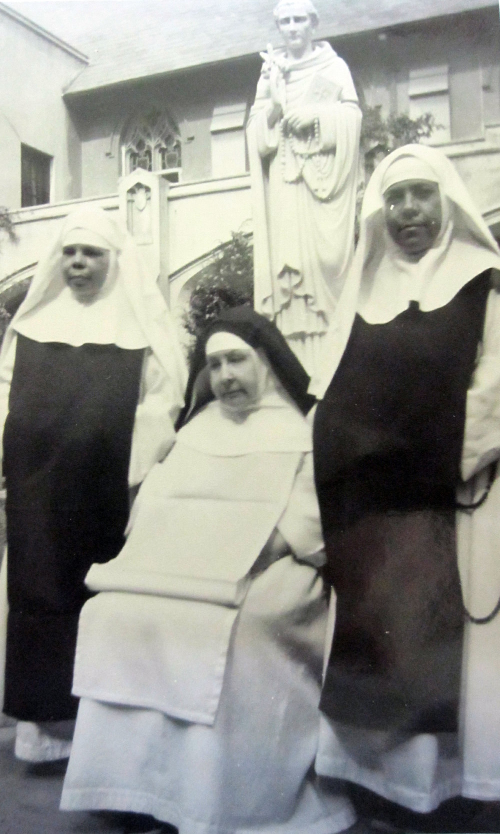Silver Jubilee photo of Mother Mary Pia, with Sister M. Columba and Sister M. Albert.