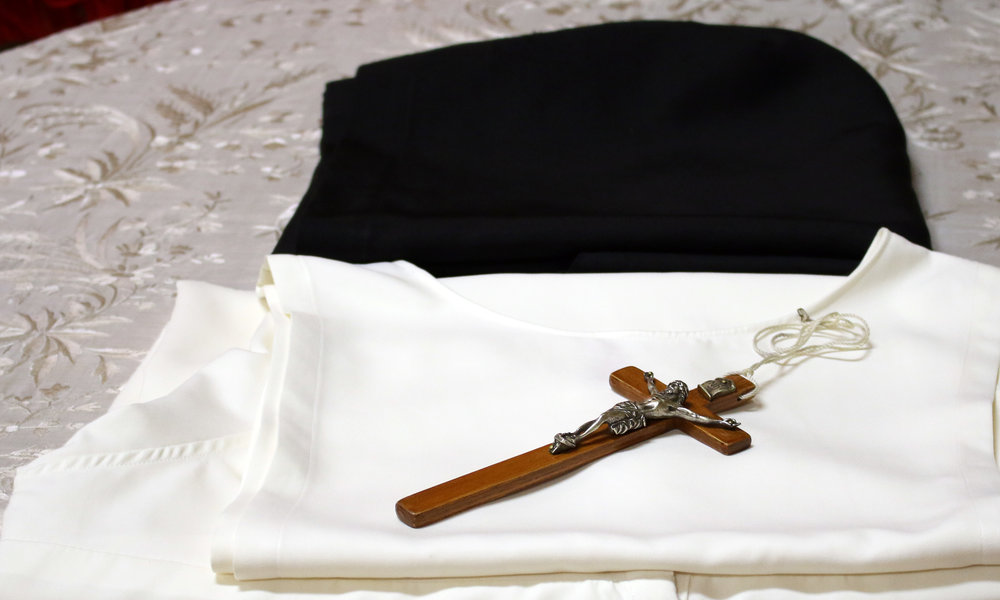 "ON THE HABIT: The habit of the nuns is a sign of their consecration and a witness to poverty.  It consists of a white tunic, a belt with a rosary, a white scapular and a black veil and cappa.  ""Blessed are those who are found worthy to wear this habit, the symbol of grace unspeakable, woven by the hands of the true valiant woman for the members of her household!"" - Theodoric of Apoldia"