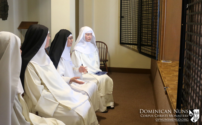 Four of our novitiate sisters speaking about the four pillars of Dominican life as lived by the cloistered nuns of the Order.