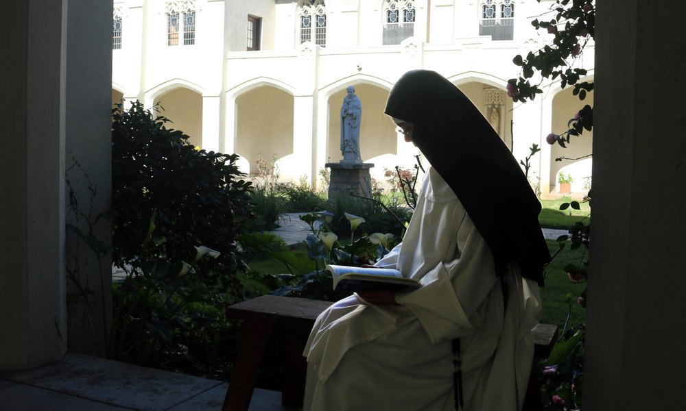 Reading in Cloister with OHF Dominic IMG_7048.jpg