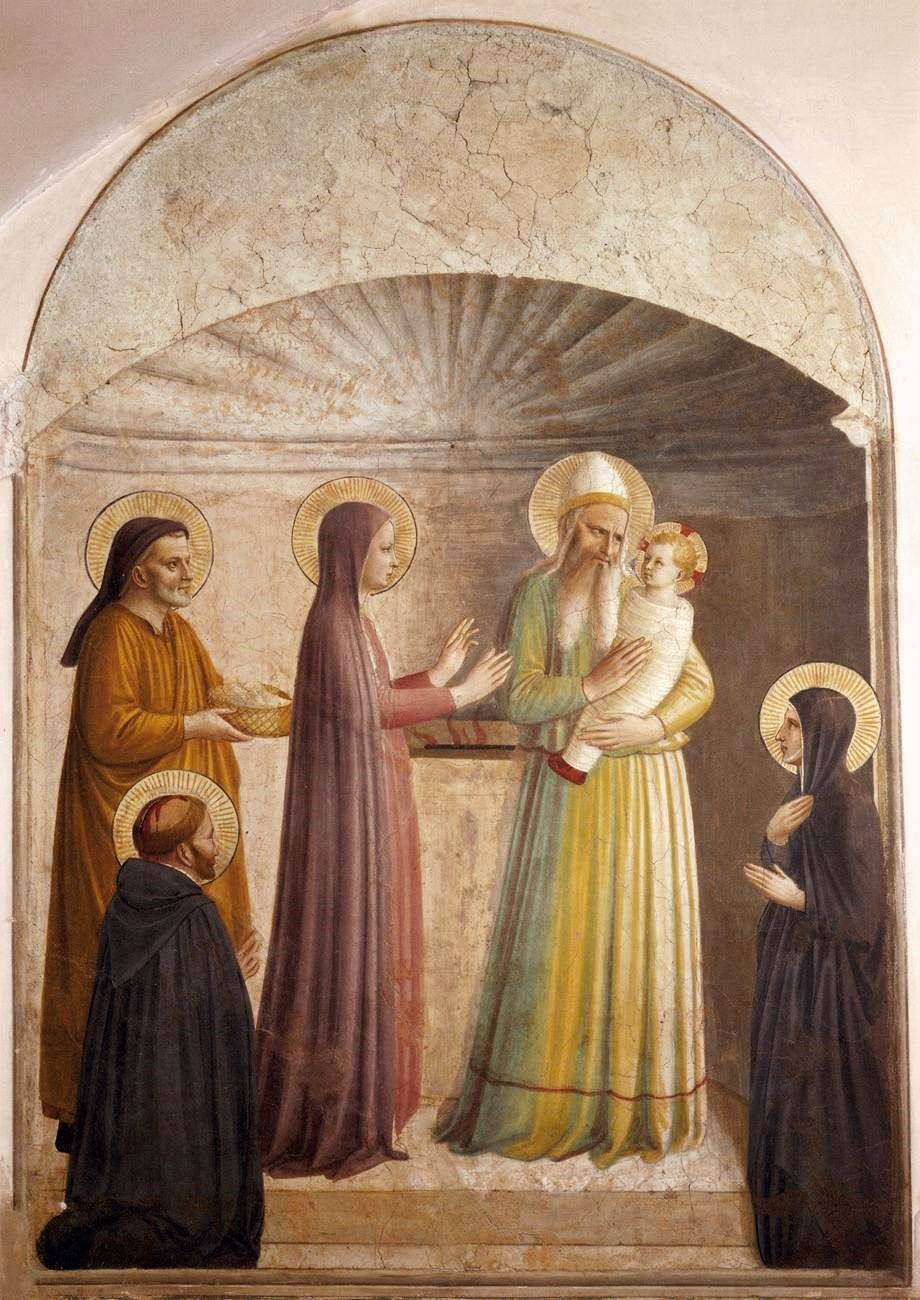 Presentation of our Lord in the Temple by Fra Angelico.