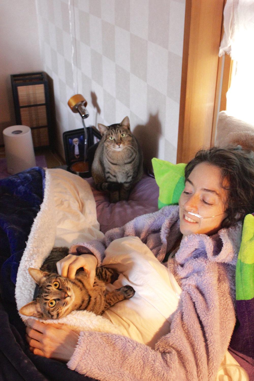 Mhairi with Jo and the momma Shanti