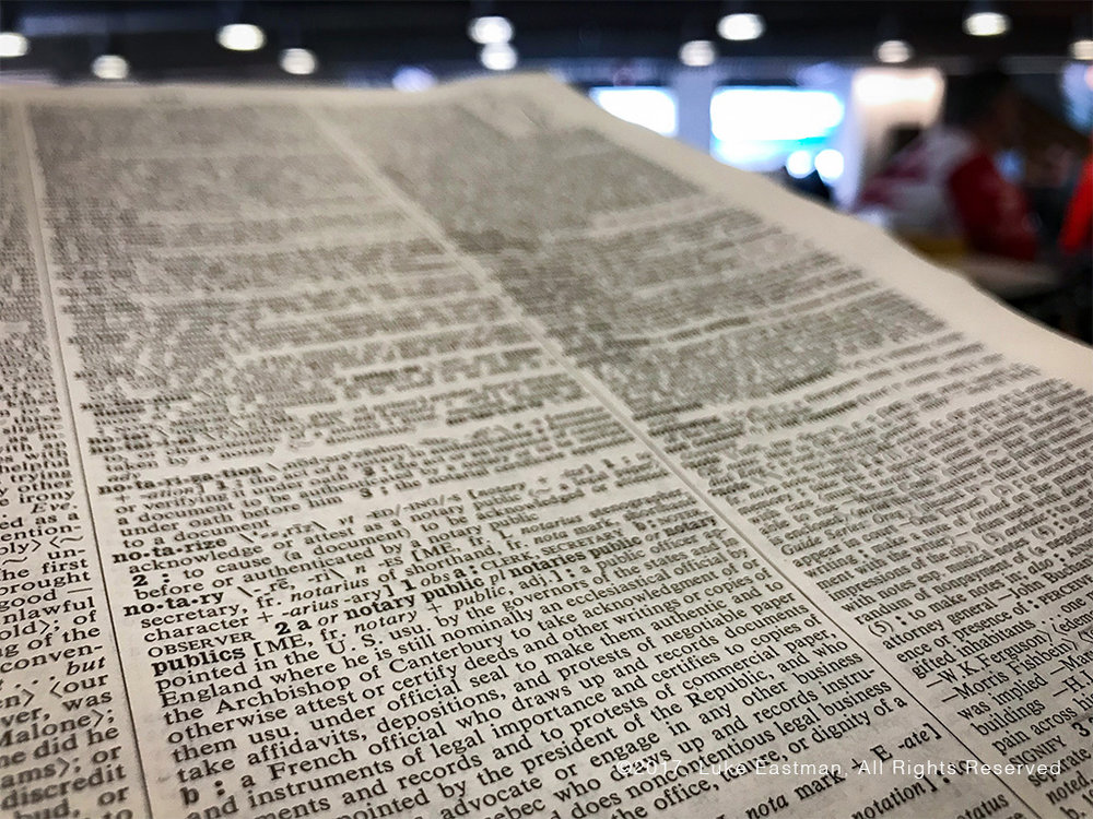 san diego library notary definition in dictionary