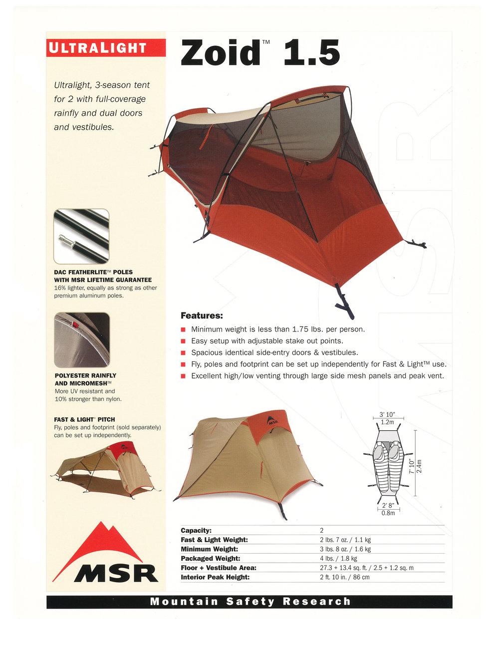 MSR Tents Zoid 1.5.jpg.  sc 1 st  jim giblin & MSR Zoid 1.5 Tent u2014 JIM GIBLIN