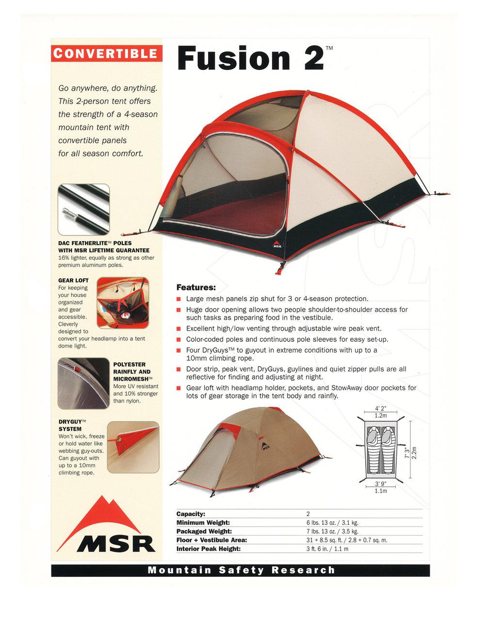 MSR Fusion 2 Tent  sc 1 st  jim giblin & MSR Fusion 2 Tent u2014 JIM GIBLIN