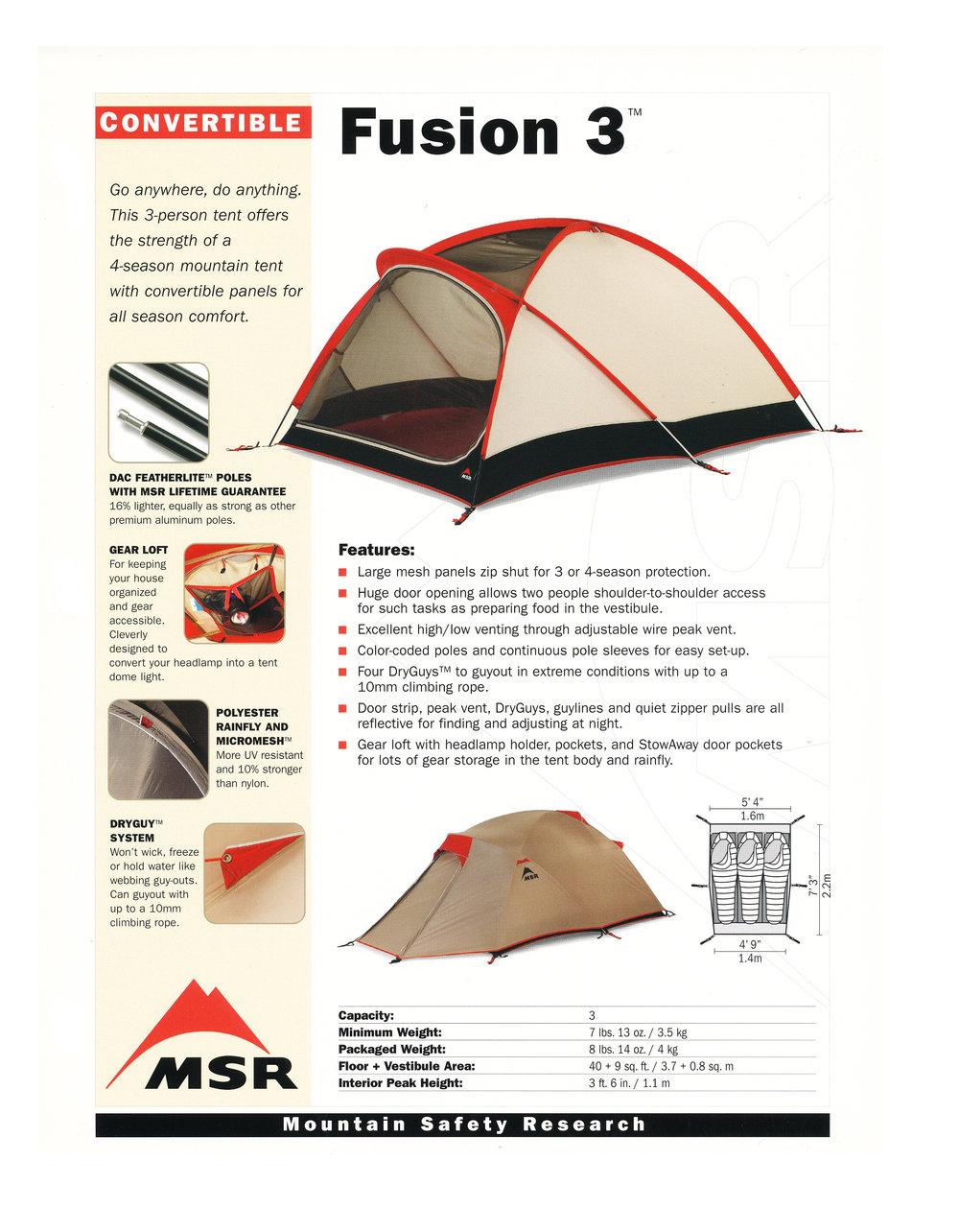 MSR Tents Fusion 3.jpg.  sc 1 st  jim giblin & MSR Fusion 3 Tent u2014 JIM GIBLIN