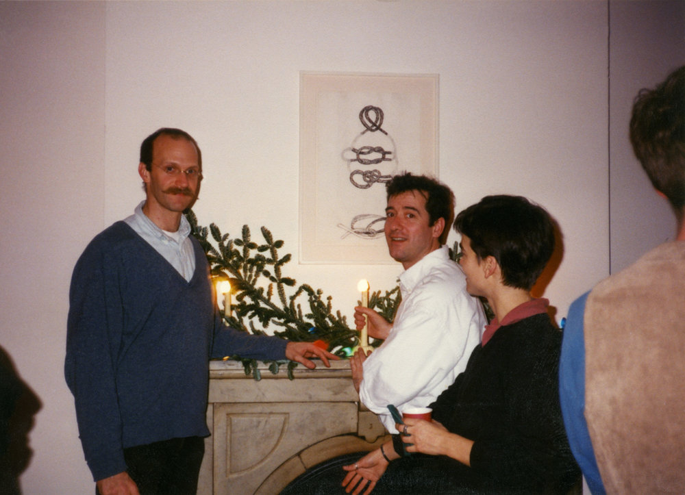 Selections of Paula Cooper Gallery staff over the years — Kristoffer Haynes and Tony Feher, c. 1993