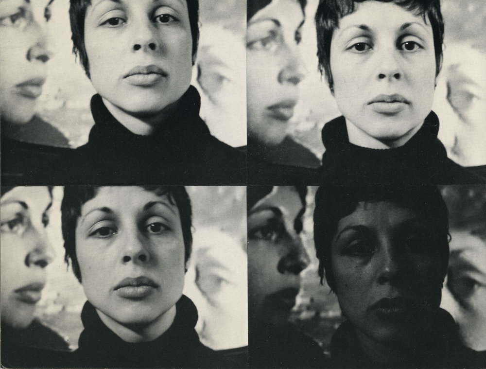 "Exhibition announcement card for ""Lynda Benglis: Video Tapes,"" Paula Cooper Gallery, 100 Prince Street, New York, NY (February 17 — March 10, 1973)."