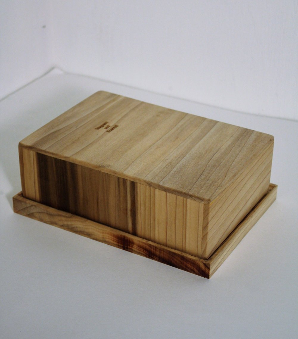 Handmade poplar box that houses  Stagnant  and  Scarred.