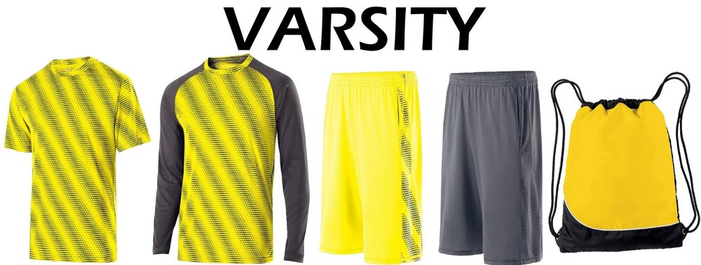 Varsity Package - $125.00 - 1- Torpedo Dri-Fit T-Shirt 1- Torpedo Dri-Fit Long Sleeve T-Shirt2- Torpedo Wicking Shorts1- Day-Pak Bag
