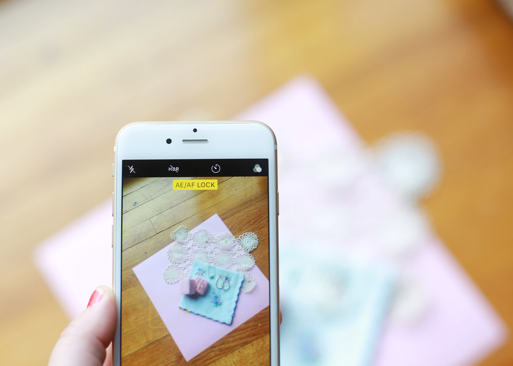 """The yellow """"AE/AF LOCK"""" button at the top of your screen is how you know that your focused is lock. From there you can recompose the photo without losing focus."""