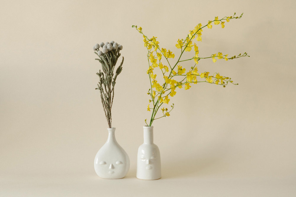 Future And Fauna Face Vases