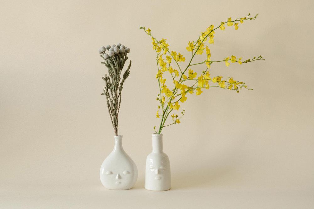 Future And Fauna Face Vases