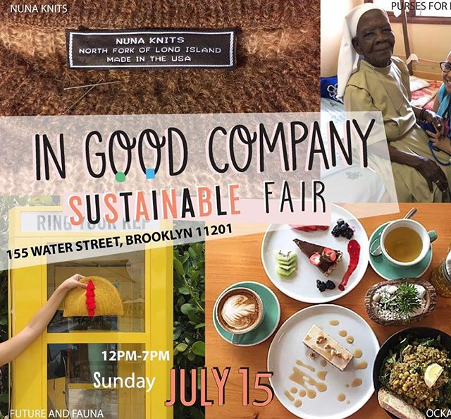We're popping up today at the @ingoodcompany.us Sustainable Fair, we'll be in Dumbo from 12-7pm to shop @futureandfauna irl