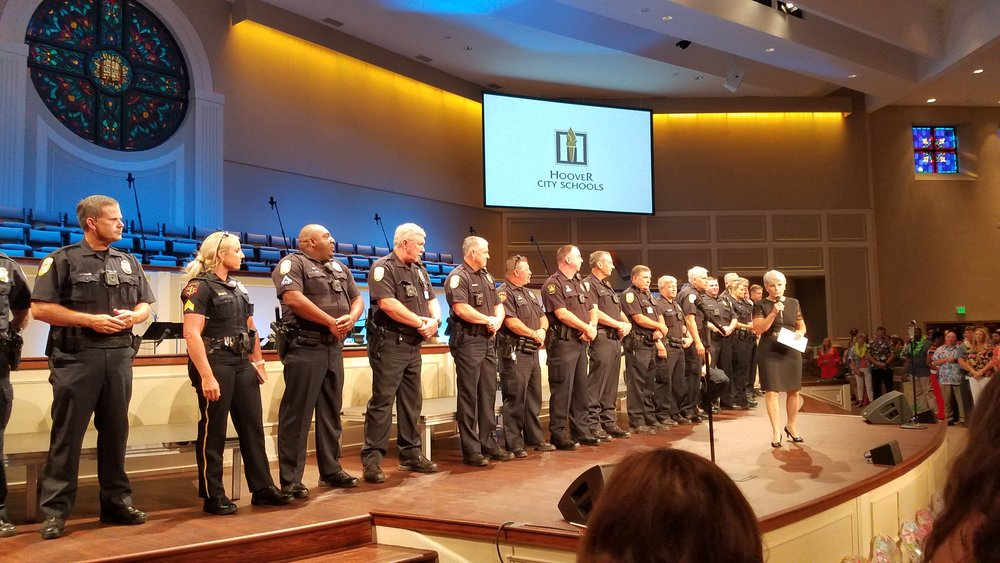 Proud to stand with our SROs and secure the funding to have them in every Hoover school!