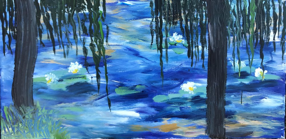 CONTEMPORARY WATER LILIES -