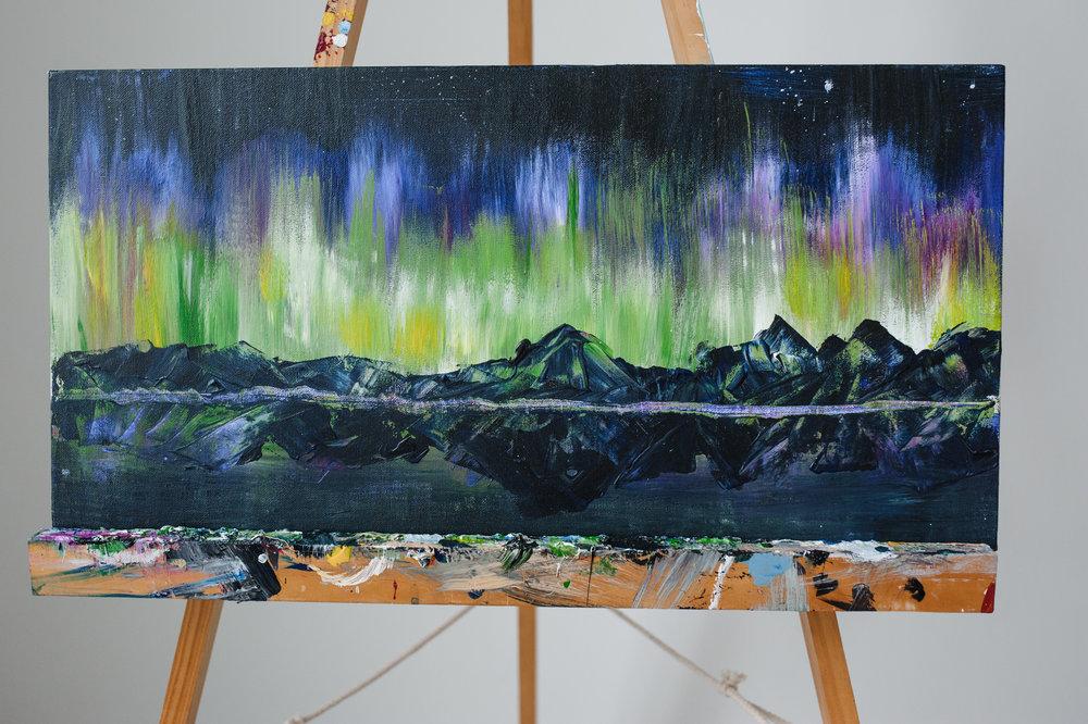 NORTHERN LIGHTS IN GLACIER -