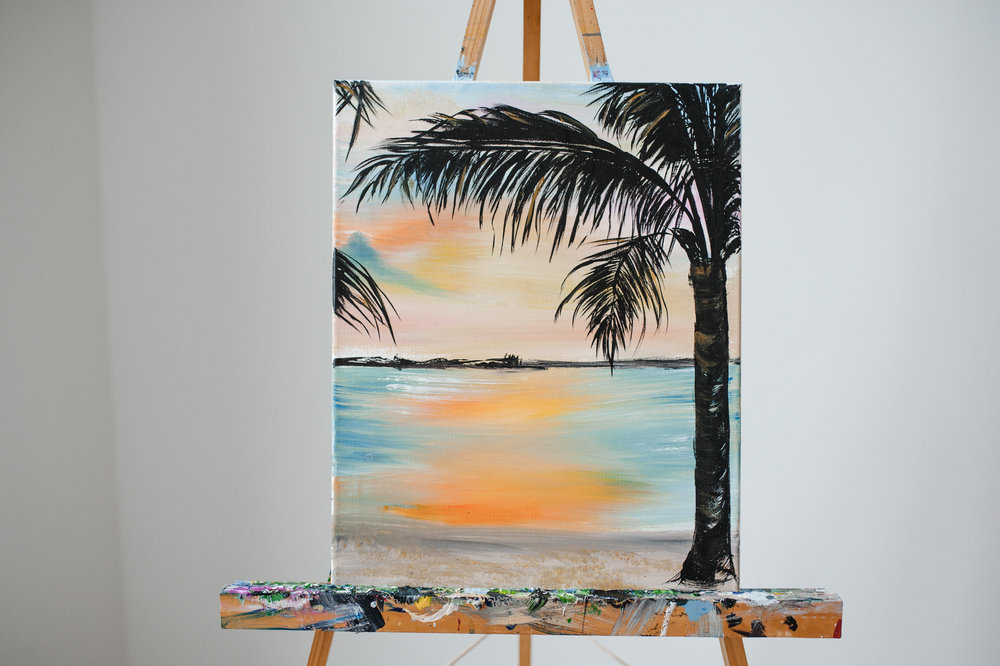 PALM SUNSET -