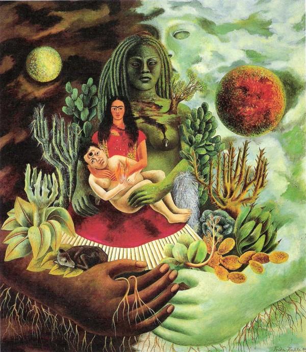 El abrazo de amor del Universo,1949 Frida Khalo