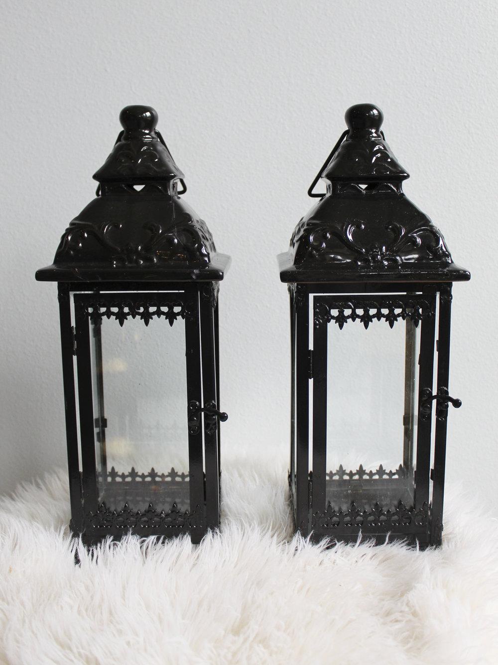 """17"""" Ceramic Black Lanterns - $11.00 - 12 in stock"""