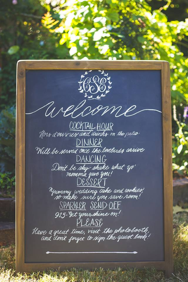 A-frame Chalkboard Sign - $15 - 2 in stock