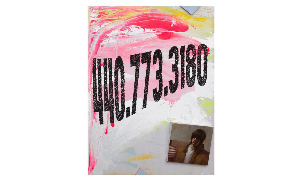 Self Portrait If You Can Believe It  2016 Oil, Acrylic, Caulk, Wood, Foam on Canvas 48h x 36w in