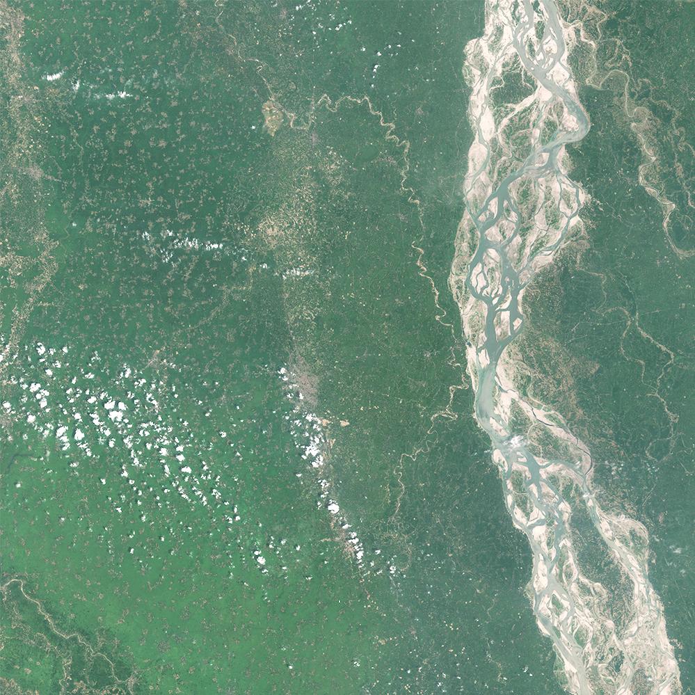 Sentinel-2, Brahmaputra ,India