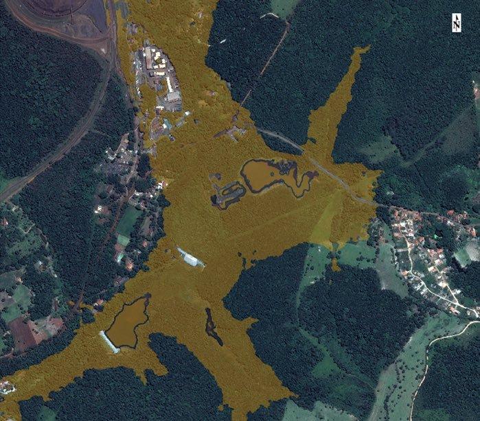 Brumadinho Brazil high resolution satellite image