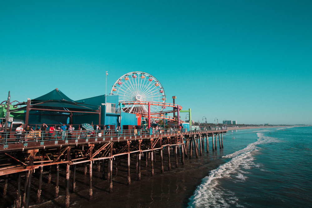 Santa Monica, CA - Where the Ocean meets the land, and a Carnival exists.