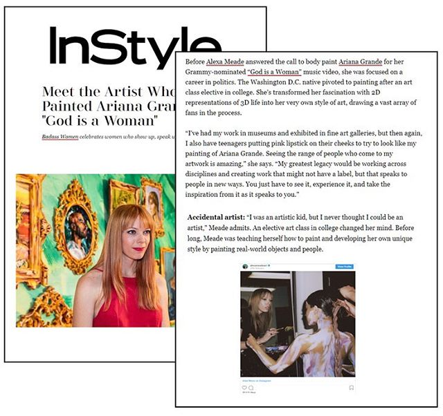 Shout out to this badass woman who shows up, speaks up and gets things done!! #alexameade #alexameadeart #instylemagazine #artist #beverlyhills #rodeodrive #badasswoman #girlpower #girlboss