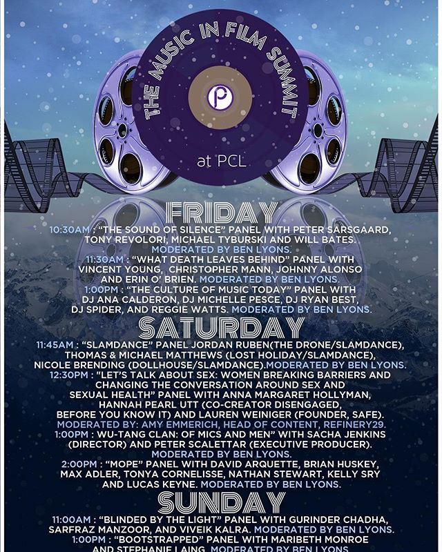 Sundance 2019 here we come! Back again for the Music in Film Summit @parkcity_utah - Join us at the @topshop Styling Salon, @complex Studio and of course our Live Discussion Panels moderated by the one and only @iambenlyons !!! 10am - 3pm Friday, Saturday and Sunday #sundance2019 #musicinfilmsummit #parkcity