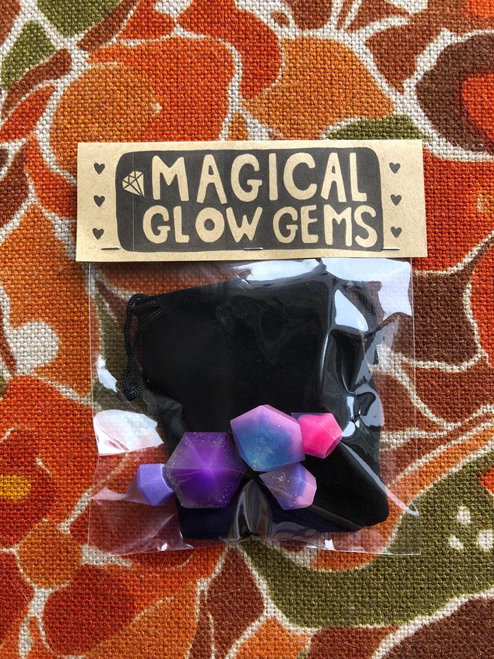 Large Glow Gem Keychain - $8