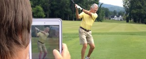 golf lesson technology