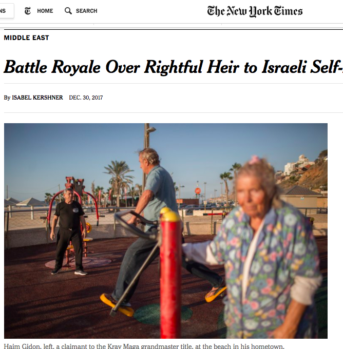 Battle Royale Over Rightful Heir to Israeli Self-Defense Discipline