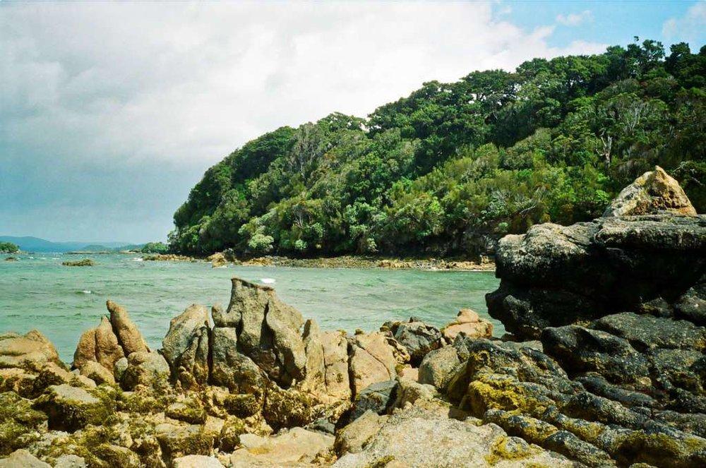 A rocky bay, Stewart Island