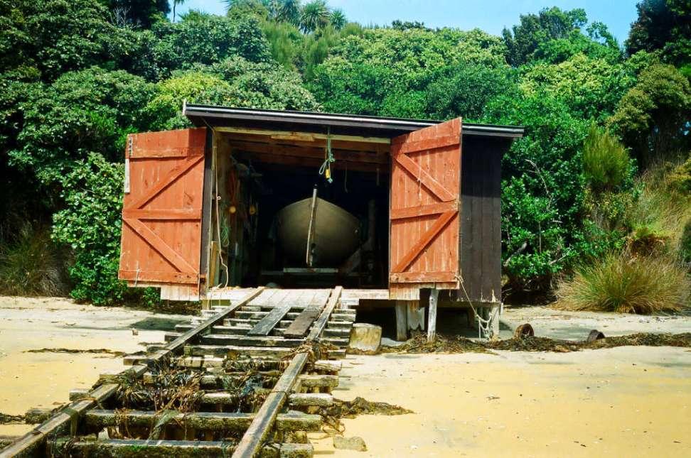 Boat shed, Ulva Island