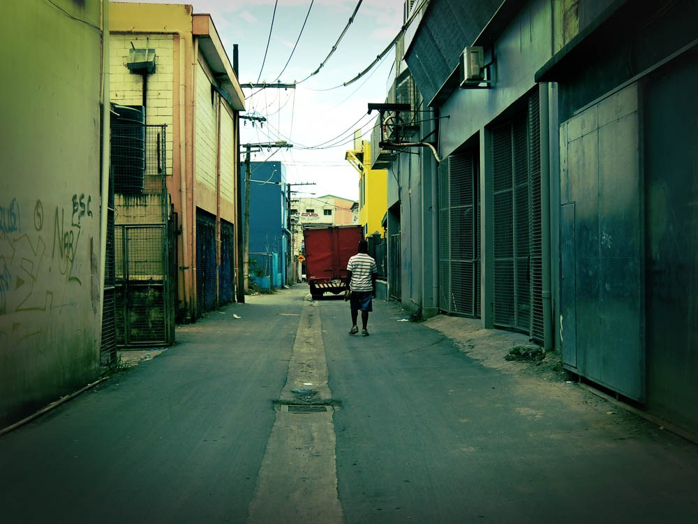 A back alley in Suva