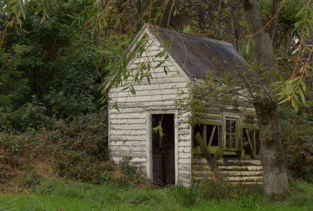 Disused farm shack